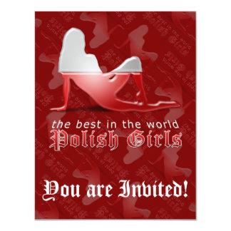 Polish Girl Silhouette Flag Custom Announcement