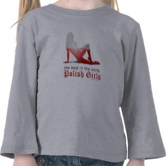 Polish Girl Silhouette Flag Tees