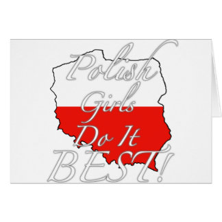 Polish Girls Do It Best! Card