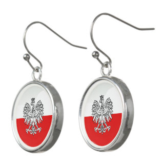 Polish glossy flag earrings