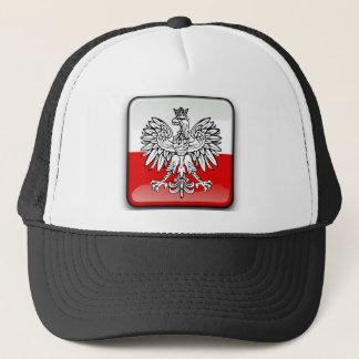 Polish glossy flag trucker hat