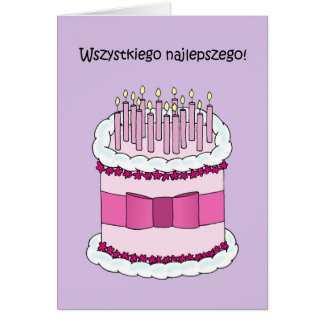 Polish Happy Birthday Card