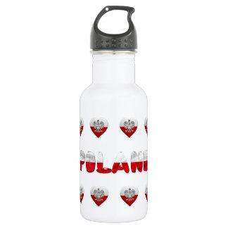 Polish heart flag 532 ml water bottle