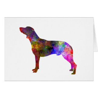 Polish Hunting Dog in watercolor Card