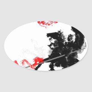 Polish Hussar Oval Sticker