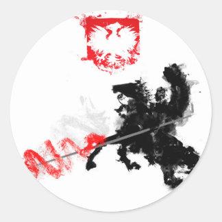 Polish Hussar Round Sticker