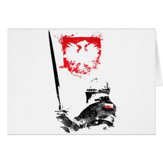 Polish Knight Card