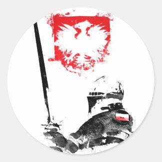 Polish Knight Classic Round Sticker
