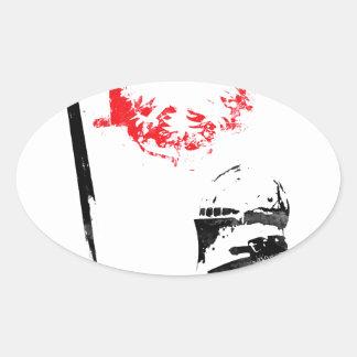 Polish Knight Oval Sticker