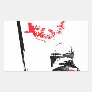Polish Knight Rectangular Sticker