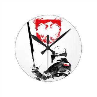 Polish Knight Round Clock
