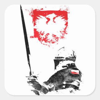 Polish Knight Square Sticker