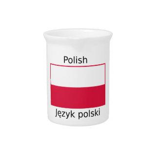 Polish Language And Poland Flag Design Pitcher