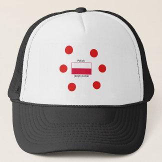 Polish Language And Poland Flag Design Trucker Hat
