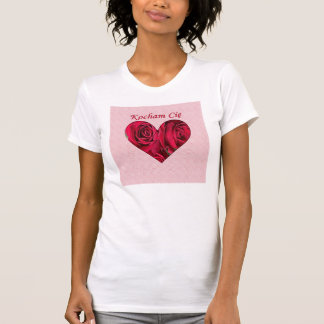 Polish Love You Red Roses Heart Woman T-Shirt