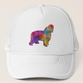 Polish Lowland Sheepdog in watercolor Trucker Hat