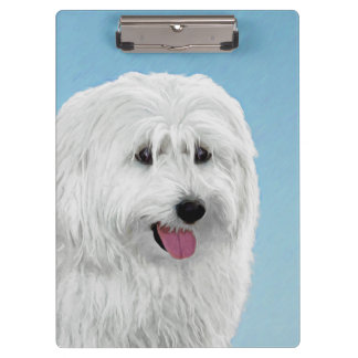 Polish Lowland Sheepdog Painting - Original Dog Ar Clipboard