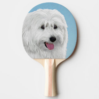 Polish Lowland Sheepdog Painting - Original Dog Ar Ping Pong Paddle