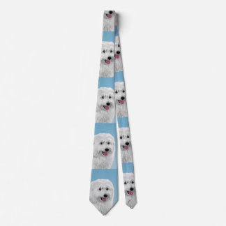 Polish Lowland Sheepdog Painting - Original Dog Ar Tie