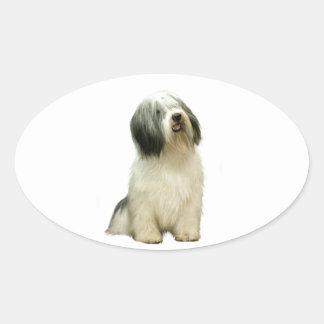 Polish Lowland Sheepdog (PON) - A Oval Sticker