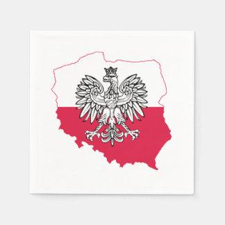Polish Map Flag Bar Napkins Paper Napkin