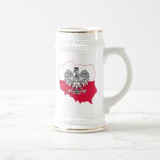 Polish Map Flag Beer Stein