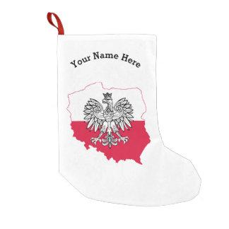 Polish Map Flag Christmas Stocking