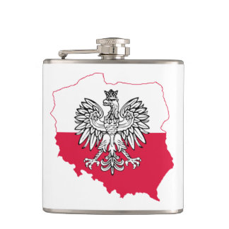 Polish Map Flag Flask