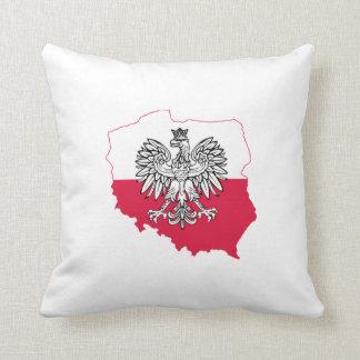 Polish Map Flag Pillow