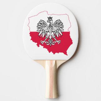 Polish Map Flag Ping Pong Paddle