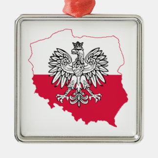 Polish Map Flag Premium Ornament