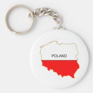 Polish Map png Basic Round Button Key Ring