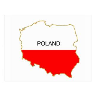 Polish Map Postcard