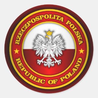 Polish Medallion Round Sticker