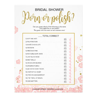 Polish Nail Affordable Hens Night Pink Floral Game 21.5 Cm X 28 Cm Flyer