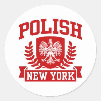 Polish New York Classic Round Sticker