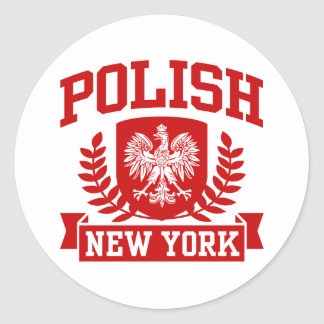 Polish New York Round Sticker