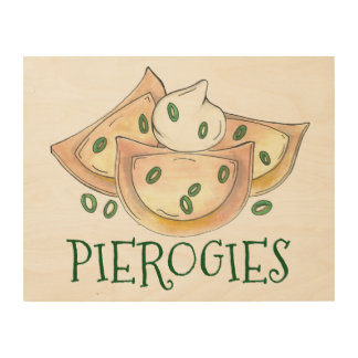 Polish Pierogies Dumplings Foodie Kitchen Decor