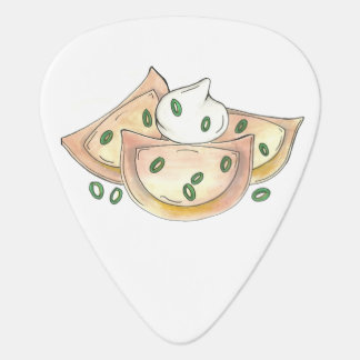 Polish Pierogies Foodie Green Onion Dumplings Food Guitar Pick