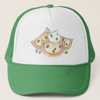 Polish Pierogies Foodie Green Onion Dumplings Food Trucker Hat