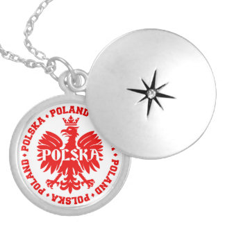 Polish Polska Eagle Emblem Locket Necklace