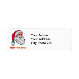 Polish Santa Return Address Label