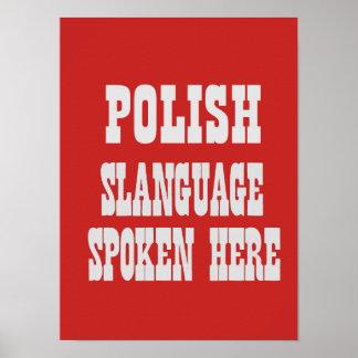 Polish slanguage poster