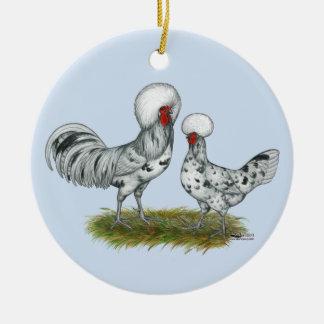 Polish Splash Chickens Ceramic Ornament