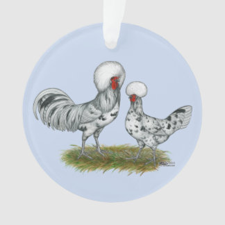 Polish Splash Chickens Ornament