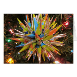 Polish Star Christmas Ornament Card