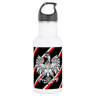 Polish stripes flag 532 ml water bottle