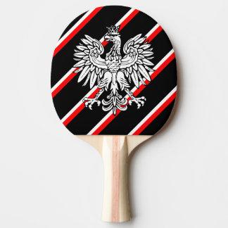 Polish stripes flag ping pong paddle