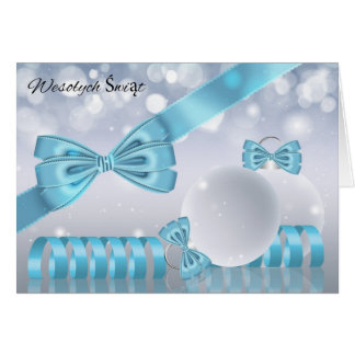 Polish - Stylish Christmas Greeting Card Ornaments