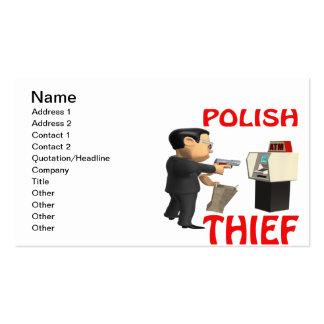Polish Thief Business Cards